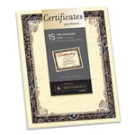 Southworth Foil-Enhanced Parchment Certificates, Ivory w/Silver Foil, 8 1/2 x 11, 15/Pack