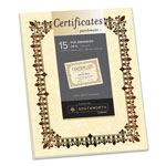 Southworth Foil-Enhanced Parchment Certificates, Ivory w/Bronze Foil, 8 1/2 x 11, 15/Pack