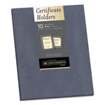 Southworth Certificate Holder, Gray, 105lb Linen Stock, 12 x 9 1/2, 10/Pack