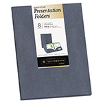 Southworth Two-Pocket Presentation Folders, 9 x 12, Gray Metallic, 8/Pack