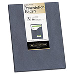 Southworth One-Pocket Presentation Folders, 9 x 12, Gray Metallic, 8/Pack