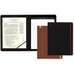 Southworth Career Pad Folio, 10 1/4 x 13 x 3/4, Leatherette, Black