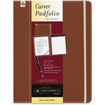 Southworth Career Pad Folio, 10 1/4 x 13 x 3/4, Leatherette, Brown