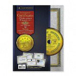 Southworth Foil Enhanced Certificates with CD, Gold Foil on Blue Parchment, 15 per Pack