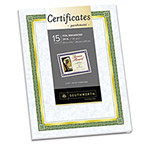 Southworth Refill Foil Enhanced Certificates, Gold Foil on Blue Parchment, 15/Pack