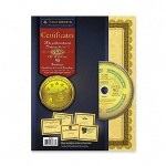 "Southworth Certificate with CD with Borders, 24lb, 8 1/2""x11"", 25/pack, Gold"