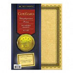 "Southworth Certificate Refill with Borders, 24Lb, 8-1/2""x11"", 25/Pack, Gold"