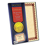 "Southworth Certificate Refill with Borders, 24Lb, 8-1/2""x11"", 25/Pack, Copper"