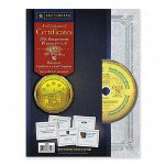 Southworth Foil Enhanced Certificates with CD, Holographic Foil on Blue Parchment, 15/Pack