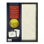 "Southworth certificate frame with parchment, 9 1/2""x12"", black with gold foil"