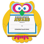 "Southworth Motivations Owl ""Excellence"" Certificate Award Kit & Holder, 8.5 X 5.5, 10/pk"