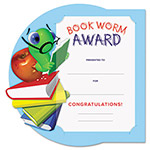 Southworth Motivations Bookworm Certificate Award Kit and Holder, 8.5 X 5.5, 10/pk