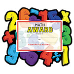 "Southworth Motivations Numbers ""Math"" Certificate Award Kit and Holder, 8.5 X 5.5, 10/pk"