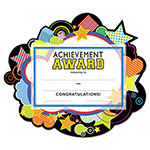 "Southworth Motivations Stars ""Achievement"" Certificate Award Kit & Holder, 8.5 X 5.5, 10/pk"