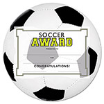 Southworth Motivations Soccer Sports Certificate Award Kit and Holder, 8.5 X 5.5, 10/pk