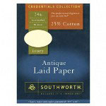 "Southworth Ivory Antique Laid Paper, 24LB, 8 1/2""x11"""