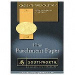 Southworth Parchment Paper, 8-1/2x11, Gold, 24 lb., 80/Pack