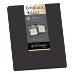Southworth Certificate Holder, 12 x 9-1/2, Black, 10/Pack