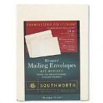 Southworth Mailing Envelopes with Labels, 9x12, Ivory, 24 lb.
