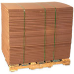 "Box Partners 48"" x 48"" Corrugated Doublewall Sheets"