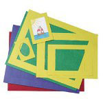 Pacon PreCut Mat Frames, Assorted Colors