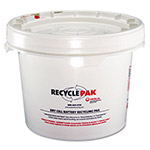 Strategic Product Distribution White Recycling Container, 3.5 Gallon