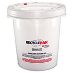 Strategic Product Distribution White Recycling Container, 5 Gallon