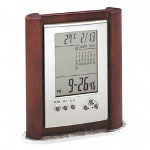 Special Flyer Merchandise lcd clock with calendar, displays date, time and temperature
