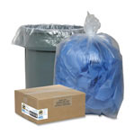 "Sparco Clear Trash Bags, 10 Gallon, 0.6 Mil, 24"" X 23"", Box of 500"