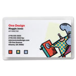 "Sparco Laminating Pouch, Business Card Size,2 1/4""x3 3/4"",5 Mil, CL"