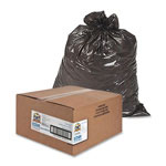 Sparco Black Flat-Bottom Trash Bags, 30 Gallon, Pack of 250