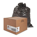 Sparco Black Flat-Bottom Trash Bags, 45 Gallon, Pack of 250