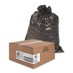 Sparco Black Flat-Bottom Trash Bags, 60 Gallon, Pack of 100