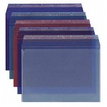 "Sparco Docu Seal Pockets with Re Sealable Flap, 10""x13"", 6/Pack, Ast"