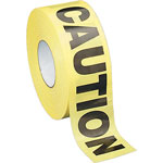 "Sparco Barricade Tape, ""Caution"", 3""x1000', Yellow/Black"