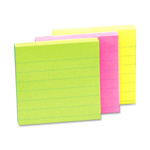 "Sparco Adhesive Note Pads, Ruled, 4""x4"", Assorted"