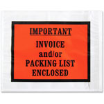 "Sparco Packing/Invoice Envelope, 5.5"" x 4.5, 1000/BX, White"