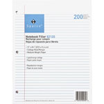 "Sparco filler paper, college ruled with margin line, 11""x8 1/2"", white"