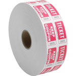 Sparco roll tickets, double with coupon, 2000 tickets per roll, red