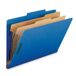 Sparco Classification Folders with Fasteners, 2 Dividers, Legal, 10/Box