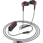 Spracht Ear Buds, Noise Canceling, 3 Microphones, Red/Black