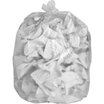 "Private Brand High-density Resin Trash Bags, 24"" x 31"", 8 mic, 1000/CT, Clear"