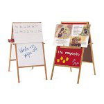 Quartet Magnetic Flannel Easel Board