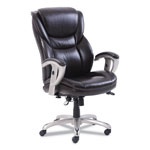 SertaPedic Emerson Executive Task Chair, 22 1/4w x 22d x 22h Seat, Brown Leather