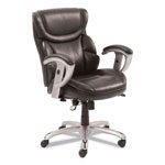 SertaPedic Emerson Task Chair, 21 1/4w x 19 3/4d x 21 3/4h Seat, Brown Leather
