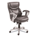 SertaPedic Emerson Task Chair, 21 1/4w x 19 3/4d x 21 3/4h Seat, Gray Leather