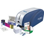 Sicurix Sicurix Solid 300 ID Printer Kit, 100 Cards, Gray