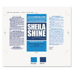 Sheila Shine Product Labels, Self-Adhesive, 6-3/4 x 4-1/4, Silver, 100/Pack
