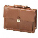 "Stebco / Bond Street Flap Style Briefcase, 17""Wx6""Dx13""H, Caramel"