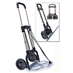 Stebco / Bond Street 275 lb. Capacity Portable Slide Flat Luggage/Dolly Cart, Chrome with Black Trim